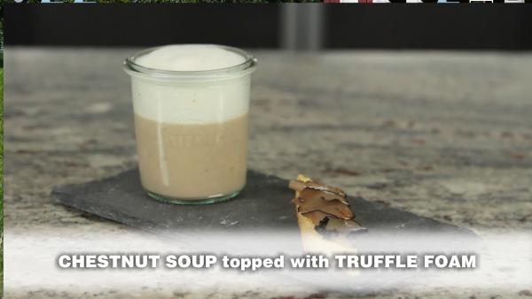 Chestnut Soup with Truffle Foam Cuisine Tech Lecithin Powder