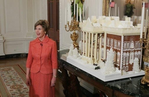 The White House Gingerbread House with former First Lady, Laura Bush