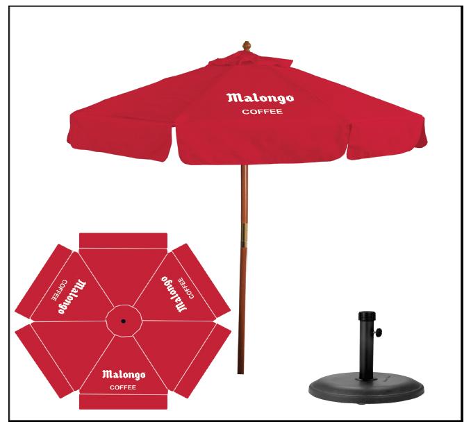 Malongo Umbrella with stand