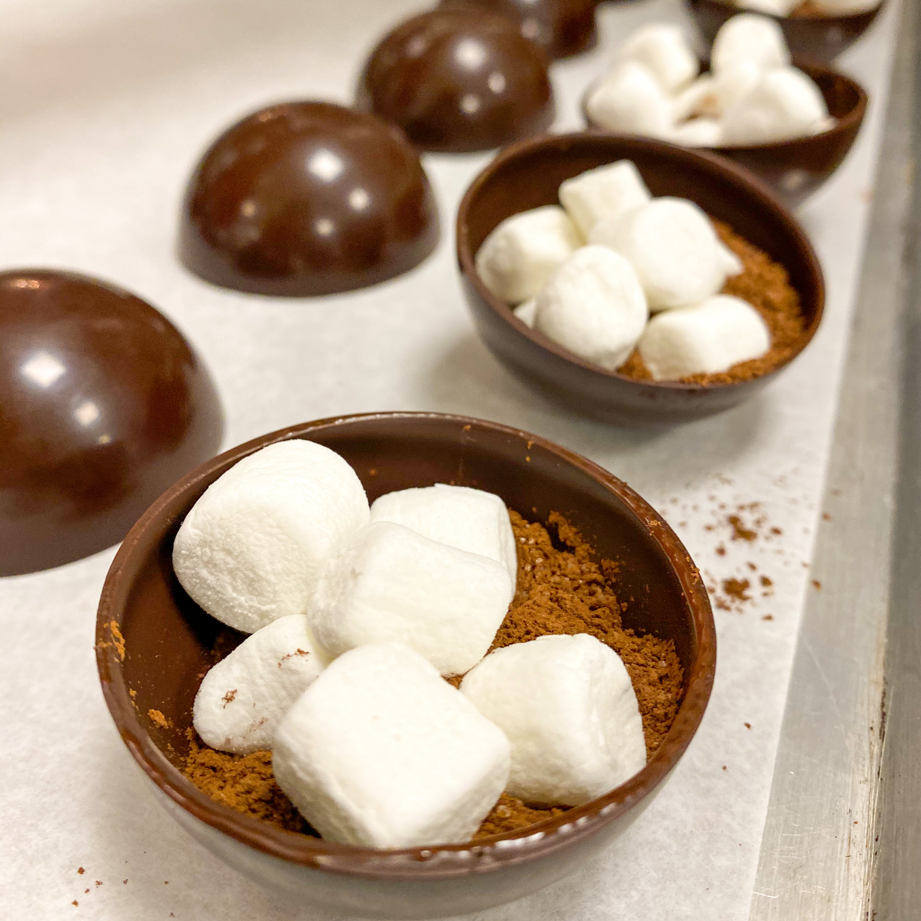 cocoa powder and marshmellows